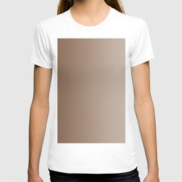 Brown to Pastel Brown Vertical Linear Gradient T-shirt