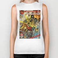 transformers Biker Tanks featuring transformers by Haribow