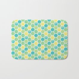 Summer Time Honeycomb Bath Mat