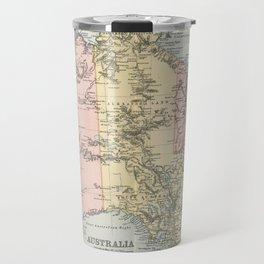 Vintage Map of Australia (1891) Travel Mug