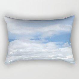 Soft Heavenly Clouds Rectangular Pillow