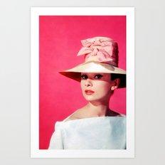 Audrey Hepburn Pink Version - for iphone Art Print