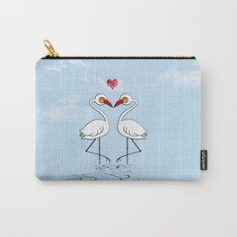 Heron Birds In Love Carry-All Pouch