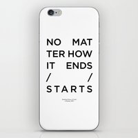 house of cards iPhone & iPod Skins featuring Radiohead House of Cards Lyrics by Mark McKenny
