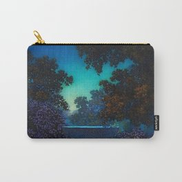 Blue Fountain at Twilight by Maxfield Parrish Carry-All Pouch