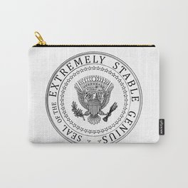 Very Stable Genius t shirt, funny Donald Trump quotes, Extremely Stable Genius Presidential Seal, An Carry-All Pouch