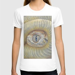 Scary Dragon Eye Weird Reptilian Monster Eye Surreal pastel drawing Fantasy Book illustration T-shirt
