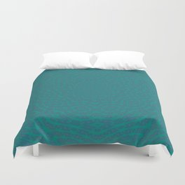 Aurora Turquoise and Blue Delicate Lace Kaleidoscope Duvet Cover