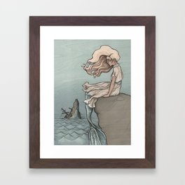 Evolution of a Mermaid Framed Art Print