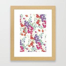 fresh floral spring scatter Framed Art Print