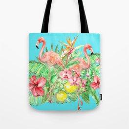 Flamingo Garden Tote Bag