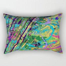 Mardi Gras Marble Rectangular Pillow