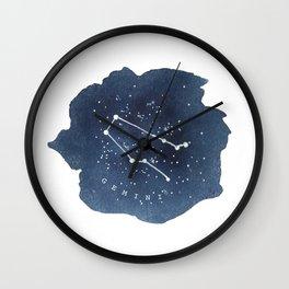 gemini constellation zodiac Wall Clock