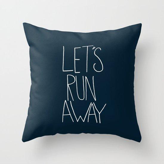 Let's Run Away: Cannon Beach, Oregon Throw Pillow