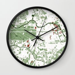 Berlin city map minimal Wall Clock