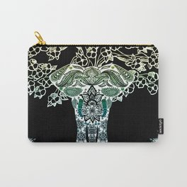 Indian Elephant Tree Of Life Carry-All Pouch