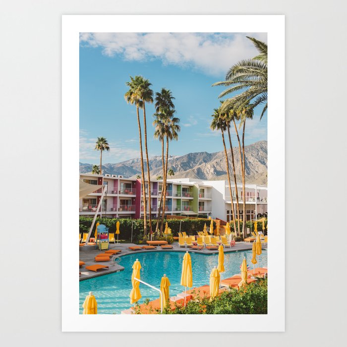Palm Springs Saguaro Art Print
