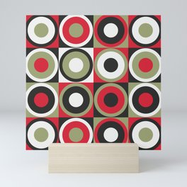 Lucky Strike retro circles Mini Art Print