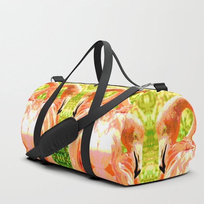 Flamingo illustration versus illustrated flamingo Duffle Bag