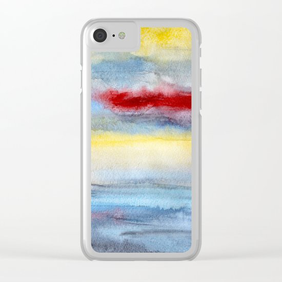 Touch of red Clear iPhone Case