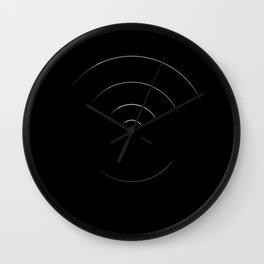 black circles Wall Clock