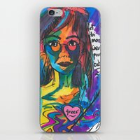 queer iPhone & iPod Skins featuring Queer Face by Gersande
