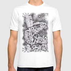 Allons-Y! MEDIUM White Mens Fitted Tee