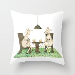 Sheep knitting Throw Pillow