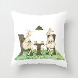 Sheep knitting Throw Pillow