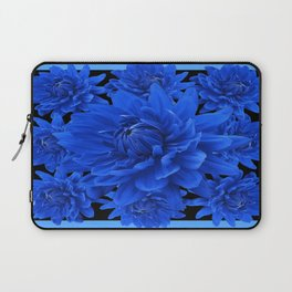 Nile Blue Dahlia  Artistic Black Still Life Design Laptop Sleeve