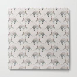 Aardvark Pattern Metal Print