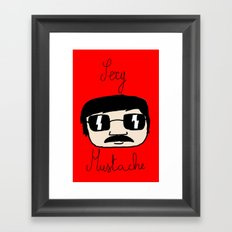 Sexy Mustache Framed Art Print