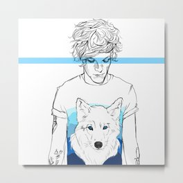 Louis and the wolf Metal Print