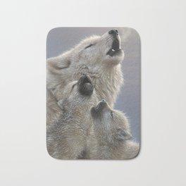 Wolf Pups Howling - Singing Lesson Bath Mat