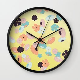 falling spring flowers Wall Clock
