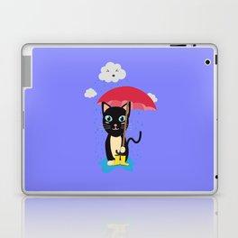 Cat in the rain with Umbrella Laptop & iPad Skin