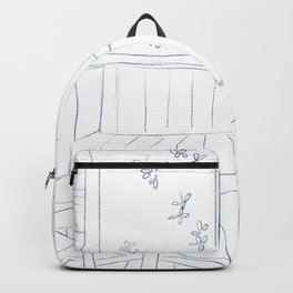 Line living room illustration Backpack