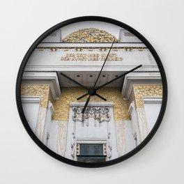 Secession building in Vienna Austria art nouveau Wall Clock