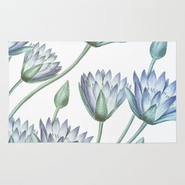 Water Lily Blue Rug