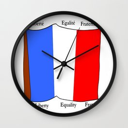 Flag of France III- France, Français,française, French,romantic,love,gastronomy Wall Clock