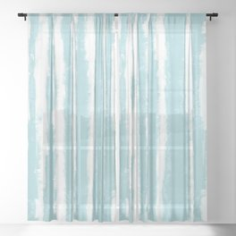 Shibori Stripe Seafoam Sheer Curtain