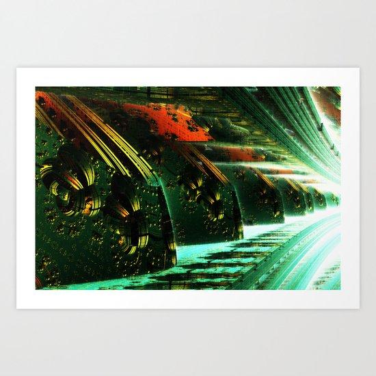 Cannon Battery (Pixel Explosion) Art Print