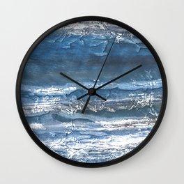 Gray blue abstract watercolor Wall Clock