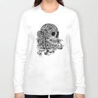 carpe Long Sleeve T-shirts featuring Carpe Noctem (Seize the Night) by Rachel Caldwell