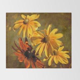 Sunshine in my Garden Two Throw Blanket
