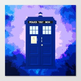 Tardis The Blue Phone Both Canvas Print
