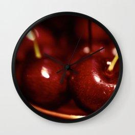 Sweet Rich Cherries Wall Clock