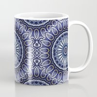 china Mugs featuring China Blue by Peter Gross