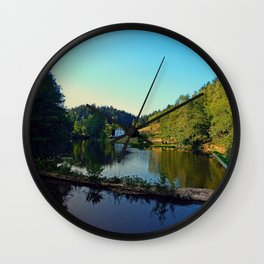 A summer evening along the river | waterscape photography Wall Clock