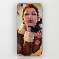 tomb raider iPhone & iPod Skins featuring Tomb Raider: Bomber Jacket by LaraRobsGraves
